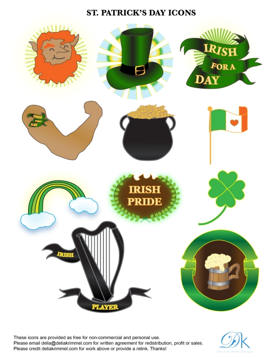 St.Patrick's Day Icons